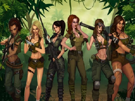 Girls with Guns- Jungle Heat - Mobil6000