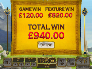 Bonus Game Total Win